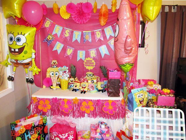 """Photo 1 of 13: Sponge Bob Girly Party! / Birthday """"Marilyn's 3rd Birthday""""   Catch My Party"""