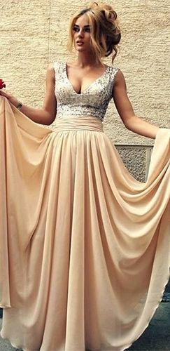 Intagram Beige Prom Dresses