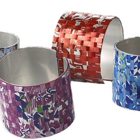 "Recycled Soda Can Bracelets   Recycled Soda Can 2"" Bracelets"