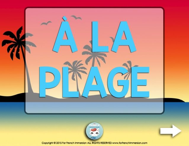 French Summer Beach Vocabulary Mini Quiz by Lucy S. via slideshare