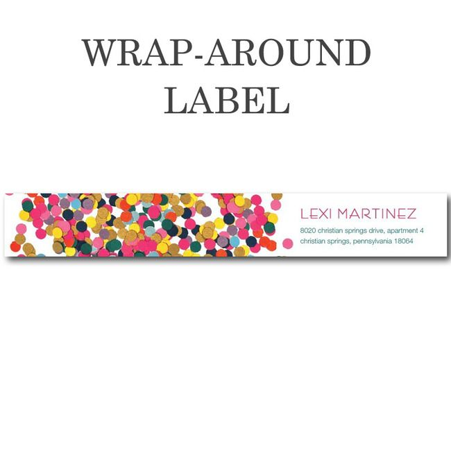 wrap around address labels from tiny prints so fun for the home