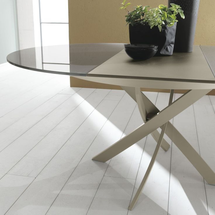 Barone table with extending round top by bontempi for Arredaclick tavoli