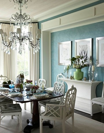 Venetian plaster teal color and white...how about in grey Darcie?