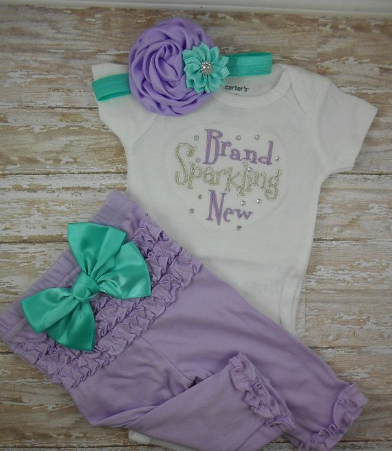 Baby girl coming home outfit Newborn take home by LittleQTCouture