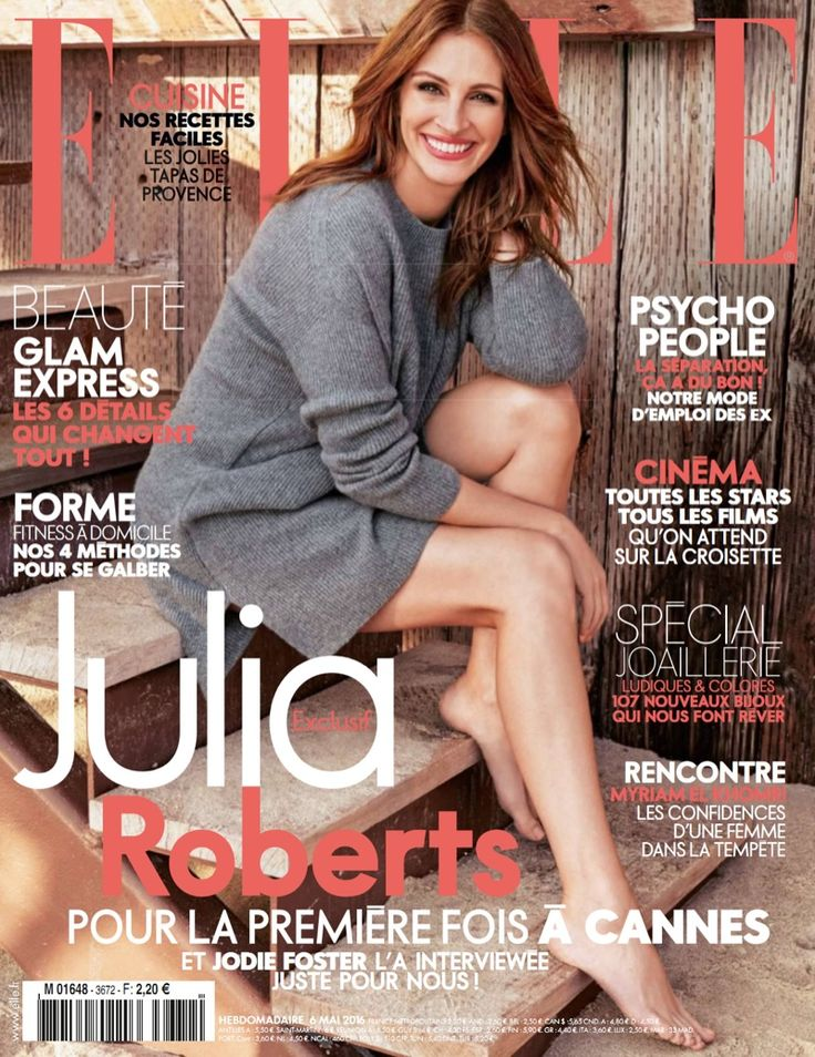 Julia Roberts flashes her famous smile on the May 6, 2016 cover from ELLE France. In the image captured by Alexi Lubomirski, the famous actress wears a grey sweater dress with ribbed detailing while going barefoot. In the shoot, the Lancome brand ambassador wears laid-back and casual looks styled by Elizabeth Stewart. From double denim …