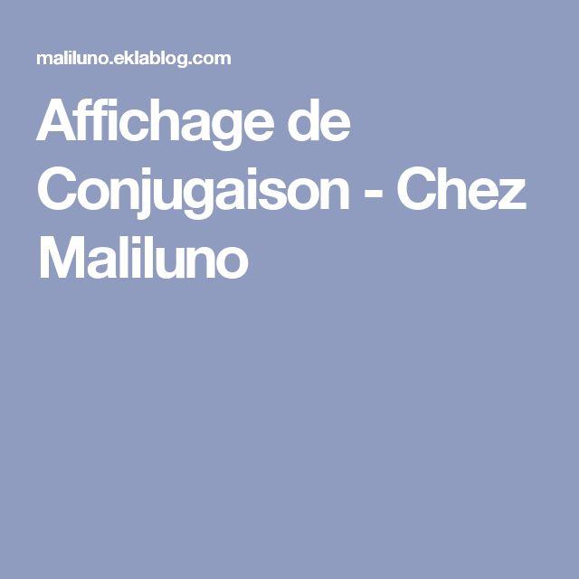 Affichage de Conjugaison - Chez Maliluno