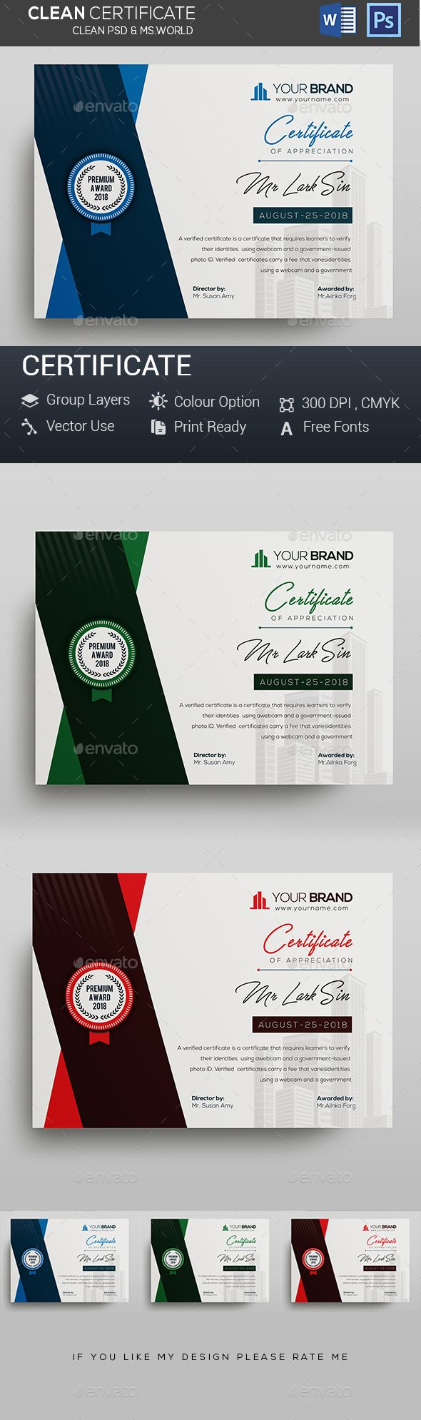 Certificate #modern certificate #simple certificate  • Download here → https://graphicriver.net/item/certificate/21245280?ref=pxcr
