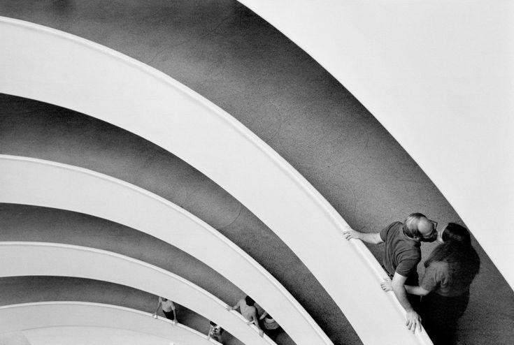 Raymond Depardon. USA. New York City. Guggenheim Museum. 1981