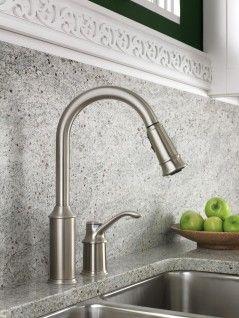 aberdeen classic stainless one handle high arc pulldown kitchen rh pinterest com