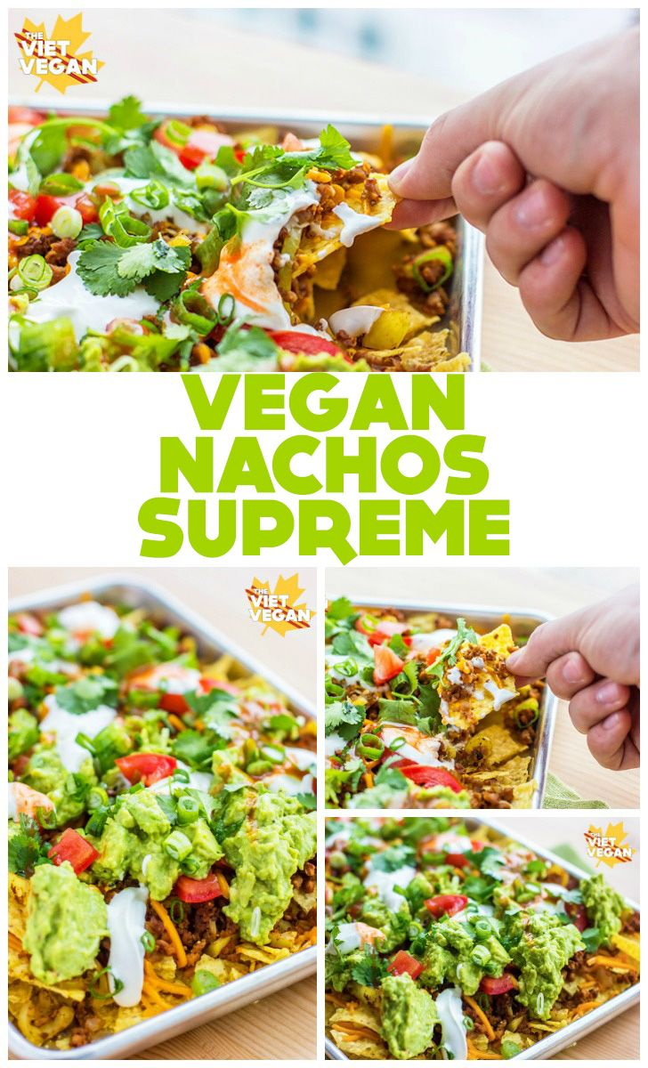 Don't skimp on your nachos, go all out with these vegan nachos supreme. Plenty of guacamole, cilantro, green onion and hot sauce over a bed of vegan cheese and seasoned soy crumble. Party on, folks. Lately I've been at the whim of my cravings. The craving for fresh air, the yearning for a new phone …