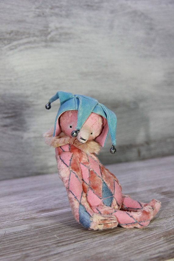 ooak artist teddy bear Gentle pink by OlesyaMorozovaGF on Etsy