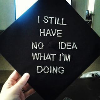 And well, because: | 27 Graduation Caps That Tell It How It Really Is