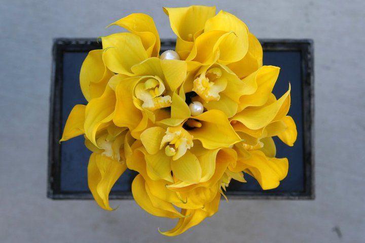 calla/orchid bouquet