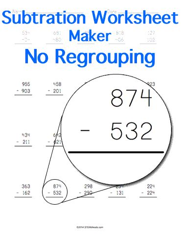 128 best Math STEM Resources images on Pinterest Math stem - horizontal subtraction facts worksheet