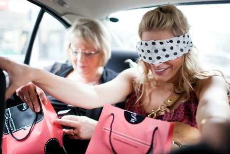 "blindfold the bride and take her to do different activities around town the day of the bachelorette party...fun alternative for a bride who doesn't do ""traditional""!"