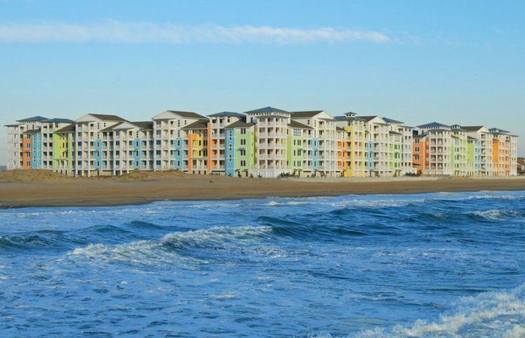 The sherbet colored hotels we stayed at Summer of '08 & '09. Sanctuary Reality, Sandbridge Beach, VA