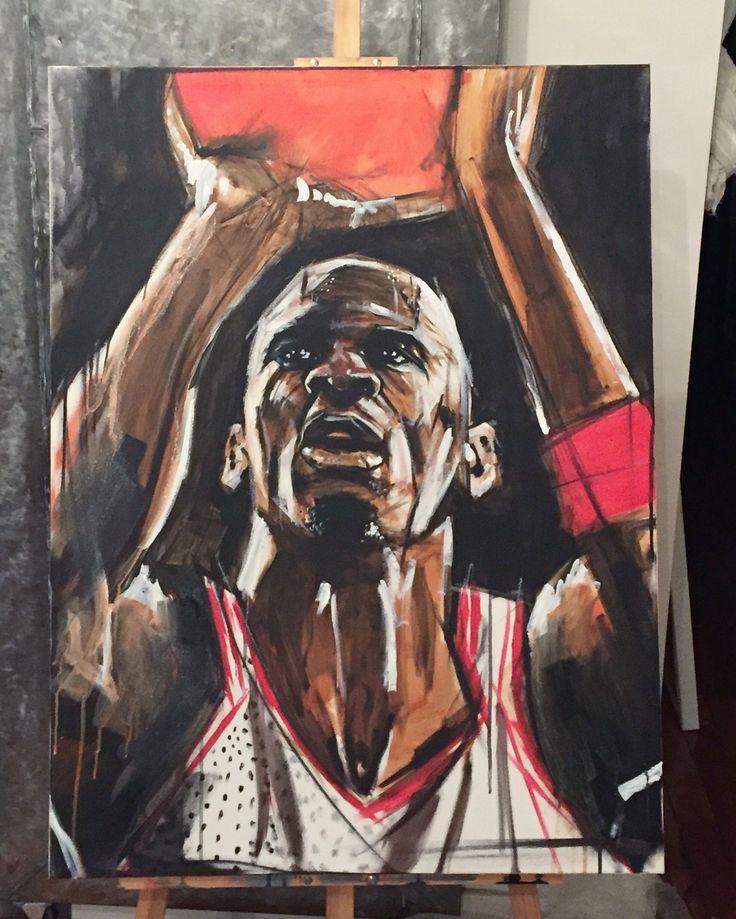 Michael. Acrylic on canvas.