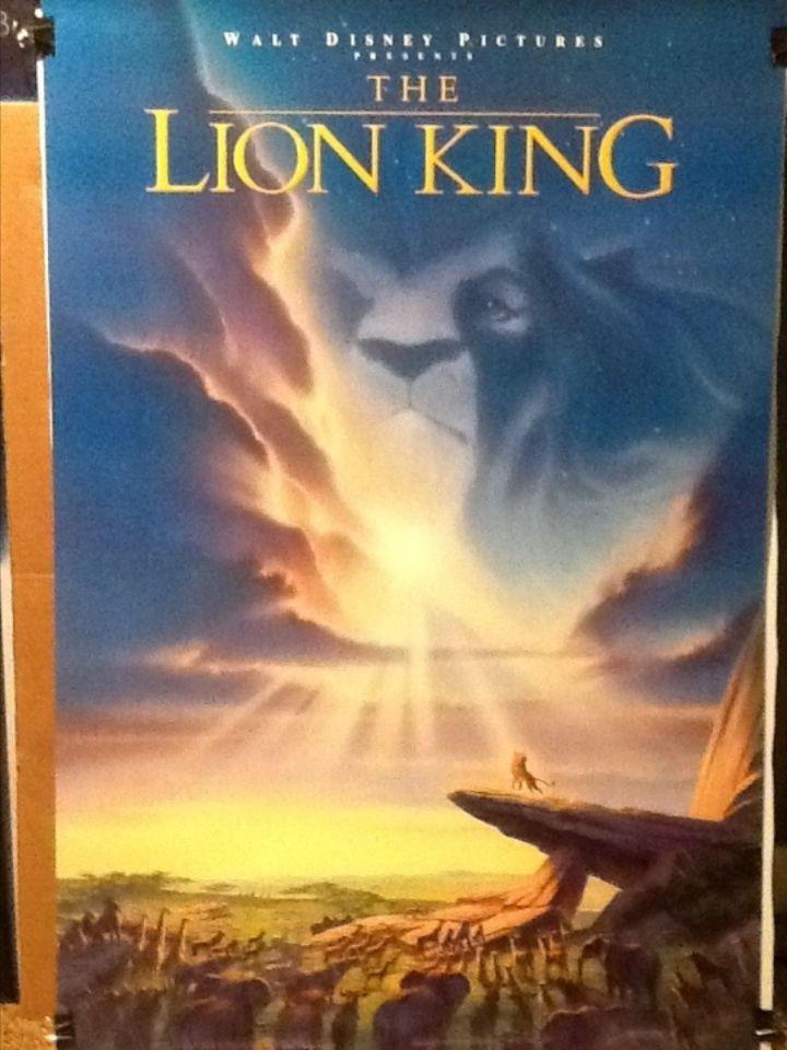Lion King original Disney movie poster | Lion King ...