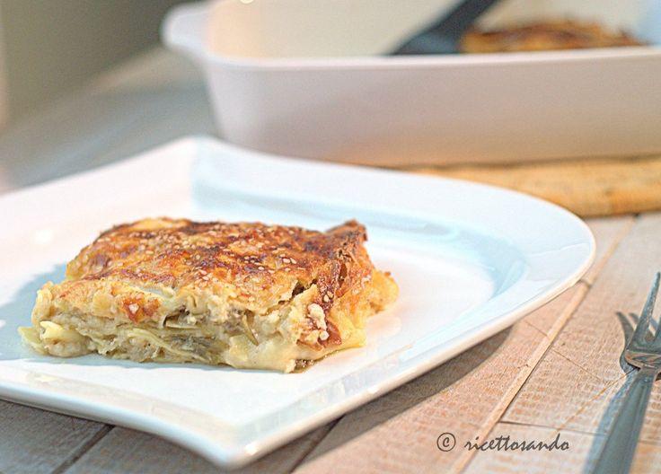 Lasagne vegetariane con carciofi e provola