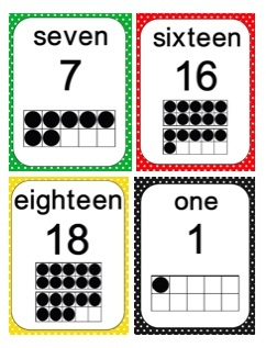 Free Number Ten Frame cards in a variety of colors and patterns. Celebrating my 100 followers with this giveaway!