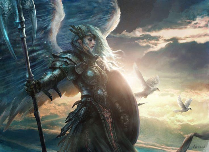 Aegis Angel, Aleksi Briclot on ArtStation at http://www.artstation.com/artwork/aegis-angel