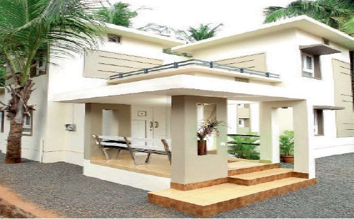 Low cost 4 bedroom kerala house plan with elevation for Tavoli design low cost