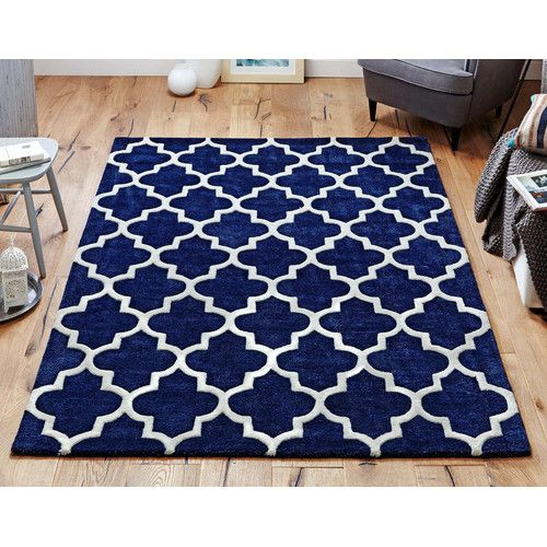 Found it at Wayfair.co.uk - Arabesque Hand-Tufted Blue Area Rug