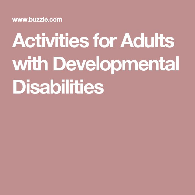activities for developmentally adults