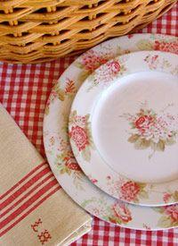 Fresh Breeze Floral Melamine Dinnerware for the picnic basket & 19 best Melamine Dinnerware Sets images on Pinterest | Melamine ...