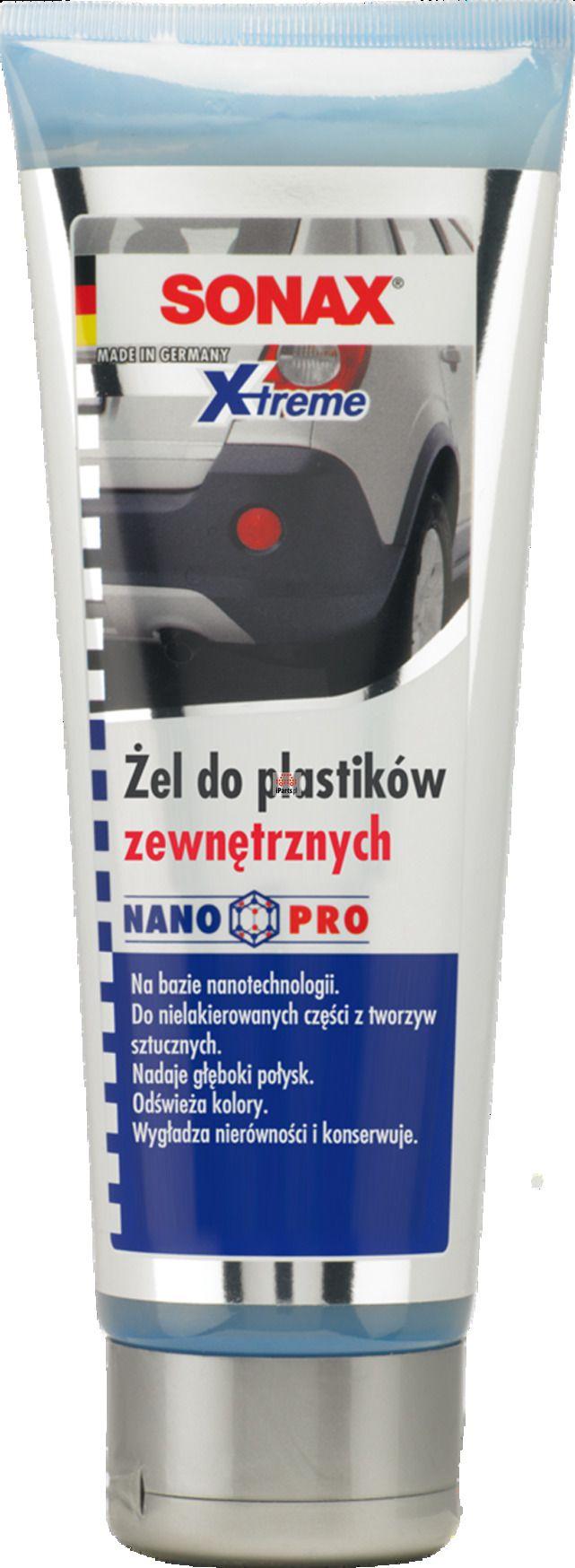 Żel do plastików zewnętrznych SONAX Xtreme 250 ml SONAX 210141 - Sklep iParts.pl