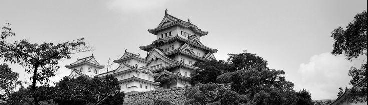 Himeji Castle Himeji-Japan 日本 Jul/2006 HDR B&W CROP