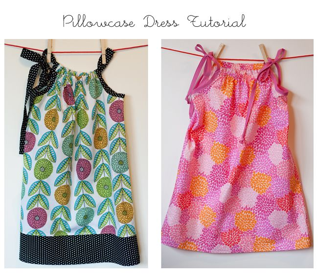 Pillow Case Dress Tutorial! I made one last year for Emma. I need to remind myself how to do this again.