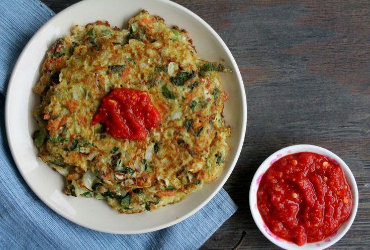 Food Pleasure Health: Vegetable Pancakes with Homemade Sriracha + Whole 30 Week 2