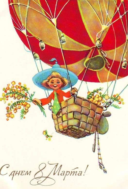 Ретро открытки к 8 марта дети винтаж, открыток годом