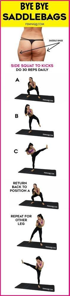 Fat Melting Saddlebag Workout/Exercise - Want to get rid of saddlebags fast using exercise? Then give this saddlebag workout outer thighs move a try! This is a 2-in-1 exercise that can make you become a saddlebag workout before and after success story! dont forget to take pics to track progress. Do this 4 times a week!