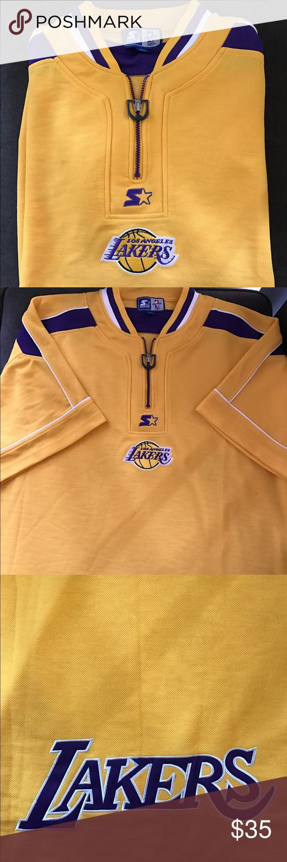 Vintage Lakers shirt size XL Vintage Lakers shirt men size XL.. Lakers embroidered logo on back. Great condition.. but there's a little hole see pic. Shirts Tees - Short Sleeve