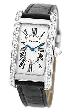 #Cartier #TankAmericaine White Gold #Watch