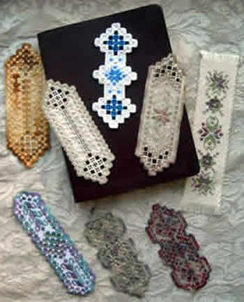 Six beautiful and unique bookmark designs by Nordic Needles very own Roz Watnemo.  There are specific instructions and photos for all six designs with general Hardanger embroidery stitch instructions.  These would be wonderful, quick, and most definitely treasured gifts for those readers in your life!