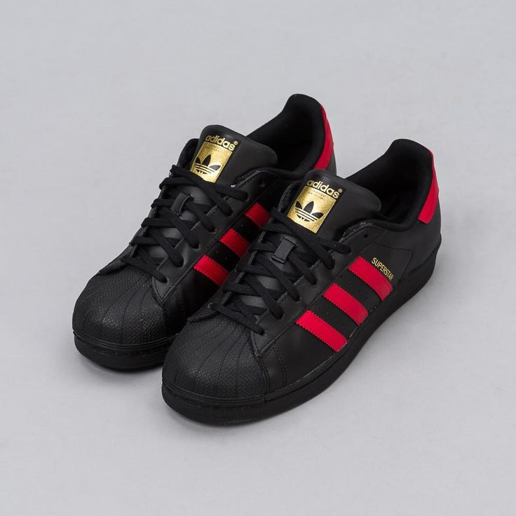 Adidas Superstar Red And Black