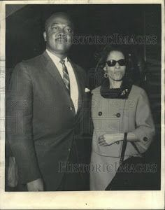 """Secret Service Agent Abraham Bolden, the first black agent assigned to the White House Detail and author of the outstanding book """"The Echo From Dealey Plaza,"""" with his beloved wife Barbara. The marriage lasted 49 years until her death, Dec. 27, 2005. The couple had three children. Born in East St. Louis, IL, January 19, 1935, Bolden graduated from East St. Louis Lincoln High in 1952. He attended Lincoln University, Jefferson City, Missouri, on a music scholarship, graduating cum laude in…"""