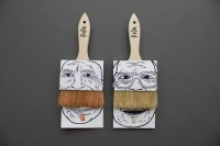 poilu_simon_laliberté04: Graphic Design, Idea, Package Design, Packaging Design, Art, Paintbrush Packaging, Paint Brushes