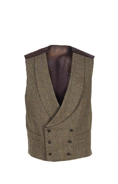 Mens Double Breasted Tweed Waistcoat | Jackets | House Of Bruar