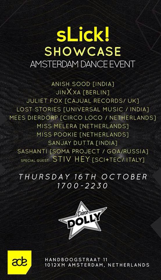 My debut to #ADE 2014 Amsterdam, playing for #sLick India @dj2dj