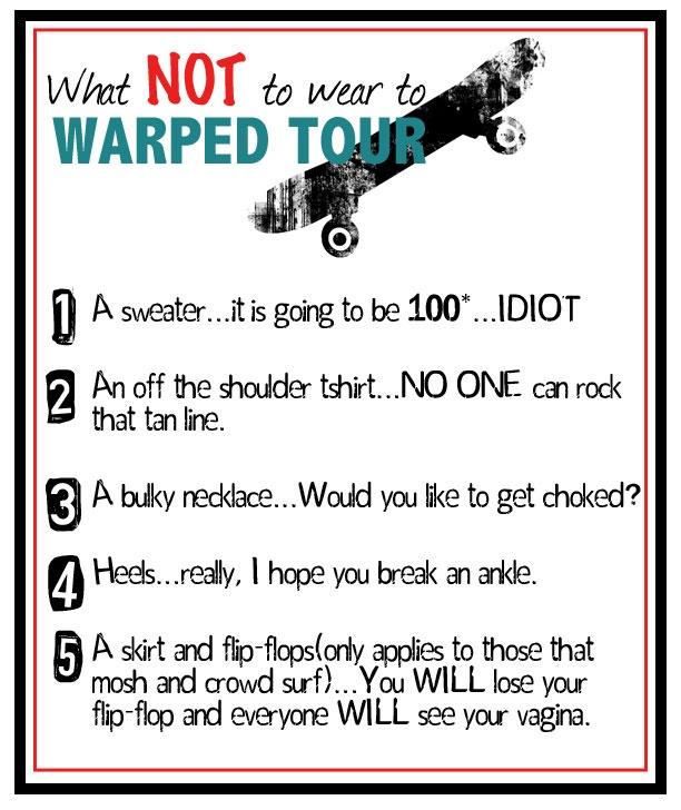 Warped Tour Tomorrow! #Chicago