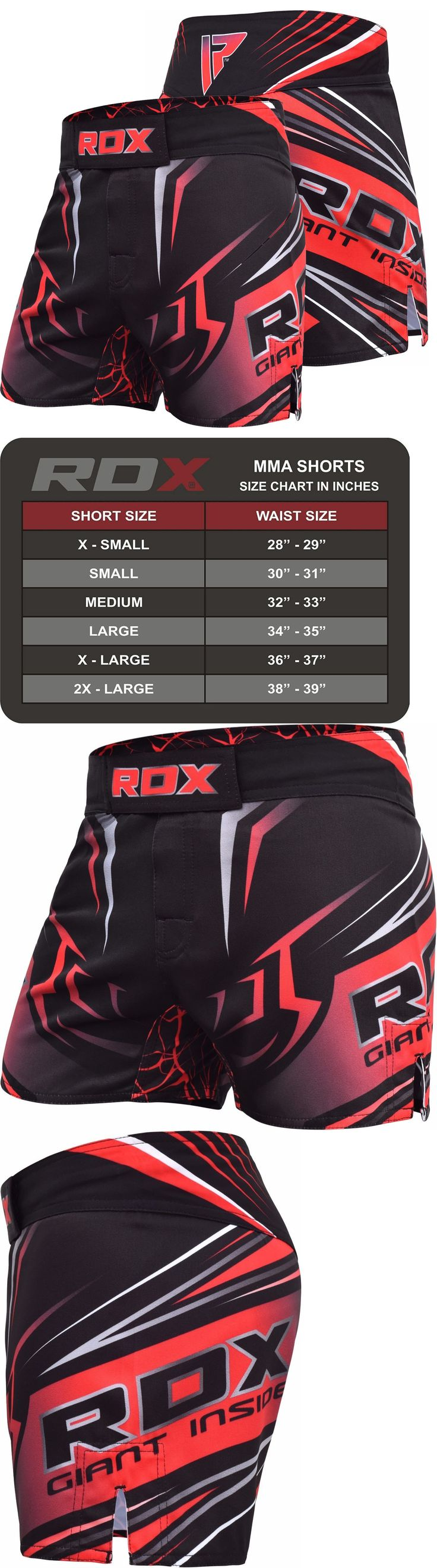 Shorts 73982: Rdx Mma Shorts Boxing Mens Muay Thai Grappling Ufc Kick Cage Fighting Red -> BUY IT NOW ONLY: $44.99 on eBay!