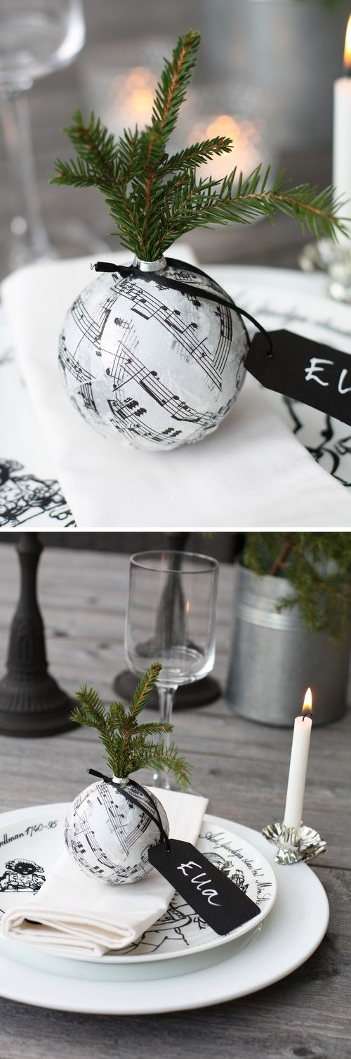 Christmas idea using christmas tree decoration. You could cover in any paper to match decor.