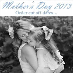 Learn about our Mother's day cut off dates and about what we can do!   custom jewellery, fingerprint jewellery, photo pendants, handstamped jewellery, necklaces, bracelets, and so much more!!