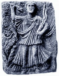 Gaulish priestess dancing with snakes. Mavilly, France. Early centuries CE.