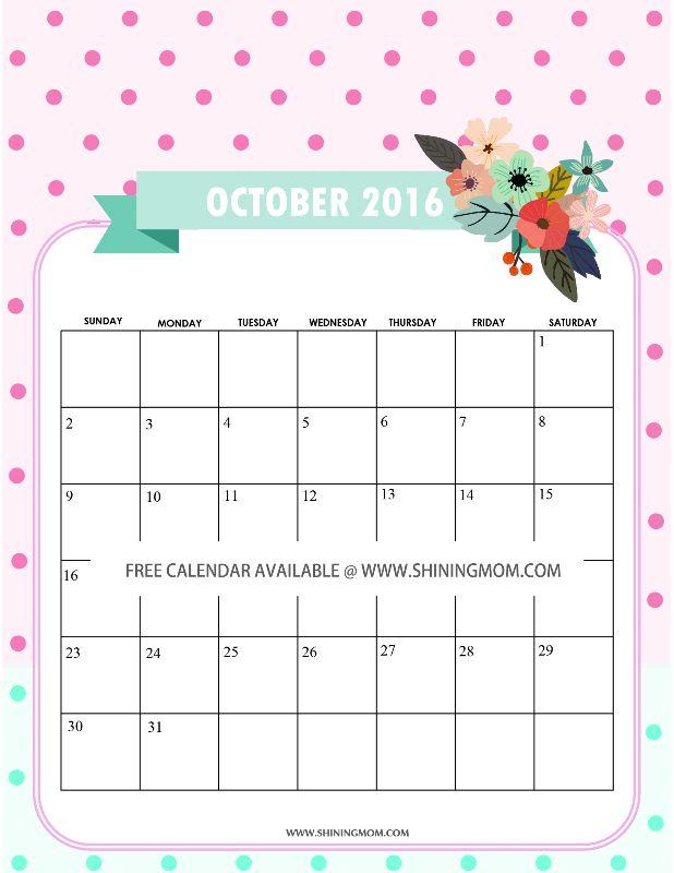 October Calendar Design : Best images about free calendars on pinterest