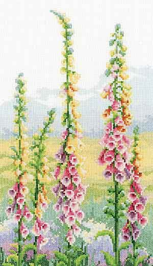 Irises at Dawn Cross Stitch Kit By Vervaco
